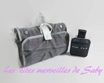 grey mens toiletry bag