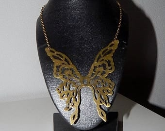Necklace bronze chain and Butterfly pendant
