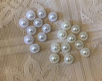 10 pcs pearl flatbacks 10mm