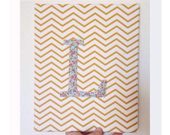 Baby first name letter canvas