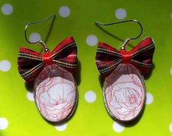 "Earrings ""Charles Rennie McIntosh"" series ""in the garden"""