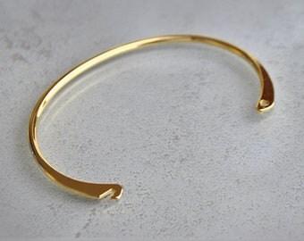 Gold plated bracelet 5 micron for realization Bangle - Bangle Bracelet blank adjustable size - beads and material first designer