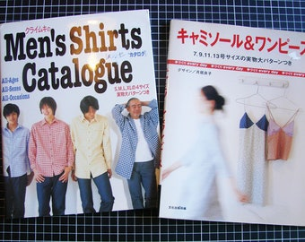 Set of 2 Japanese books - sewing - clothes for women and men