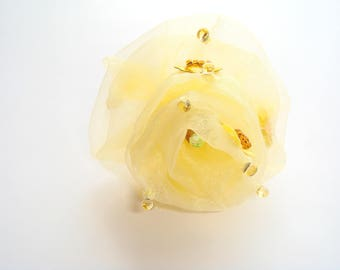 hair ornament organza flower