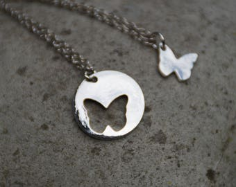 Duo of friendship necklaces: butterflies