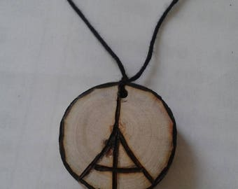 pendants tribute to the victims of Paris attacks