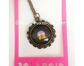 Emoji bronze cameo necklace 2