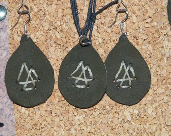 Valknut Necklace Earring set,