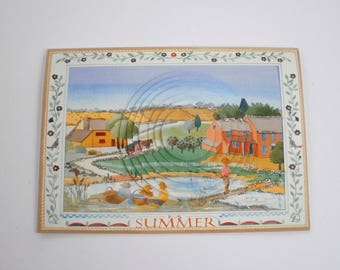 Fisherman 3d card in a country landscape No. 4