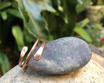 Flattened Spiral Copper Ring