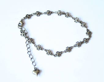 support bronze bracelet chain to customize, 19 cm long