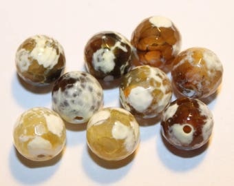 Stone, Agate, 10 mm, set of 5 beads