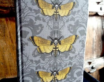 Academic Diary A5, Deathshead Hawkmoth Aug 2017 - Aug 2018, fabric covered, macabre, moth