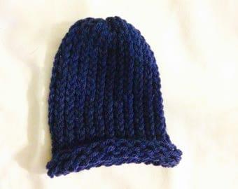 Crochet baby beanie Nav