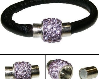 """""""Lilac"""" Crystal pave magnetic clasp"""