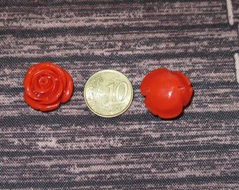 Glass flower beads, 12 mm.