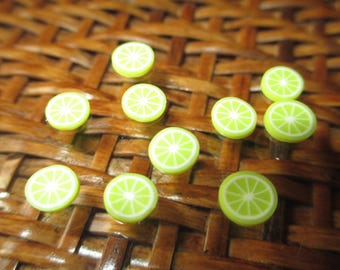 10 lemon slices Fimo