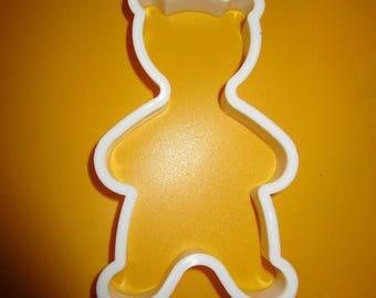 cookie cutter plastic Teddy bear shape