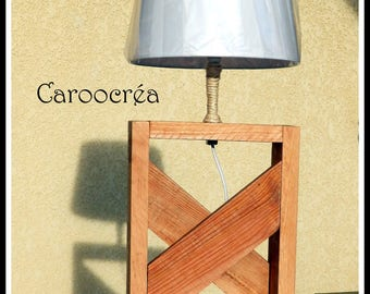 Reclaimed pallet wood lamp