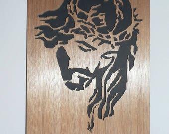Portrait of JESUS wooden cutout