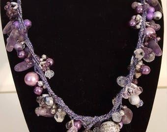 Elegant Purple Beaded Necklace