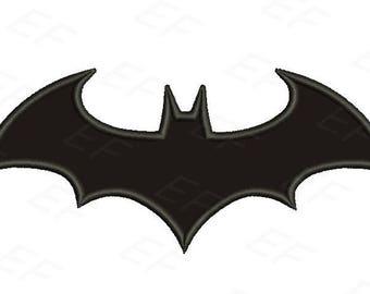 Applique design - Batman Arkham knight applique embroidery design - instant download digital file