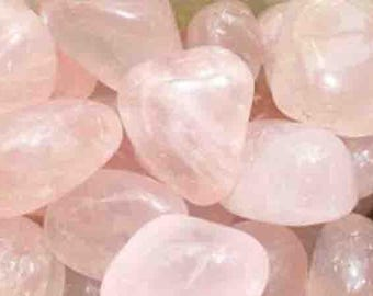 2 cm 1 wrapped Quartz stone rose for your jewelry gemstones