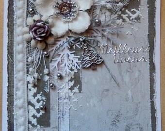 Mixed media greeting card