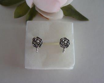 2 pairs of earring holder chip pattern flower