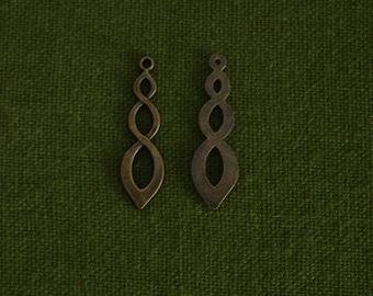 2 Breloques bronze