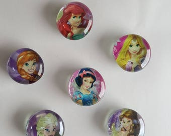 Set of 6 Princess Bubble Magnets