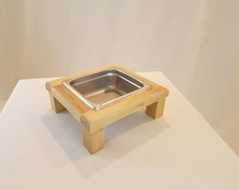 Dog Feeder for small dogs or cats in Birch