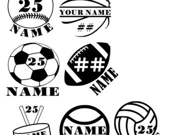 Team Vinyl Decals