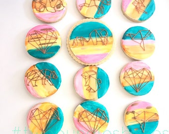 Geometric Shapes Cookies