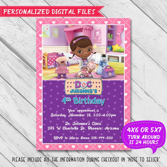 picture regarding Doc Mcstuffins Printable Invitations called Document McStuffins Invitation, Document McStuffins Get together, Document McStuffins Birthday, Document McStuffins Birthday Invitation, Document McStuffin Printable invite
