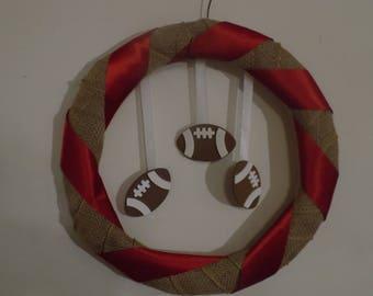 Simple Football Wreath
