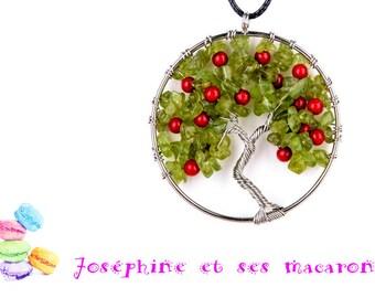 Tree of life Pendant 1 Peridot
