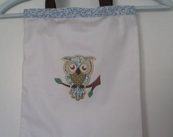 "bag-tote bag ""owls"" kids sport business, school lunch"
