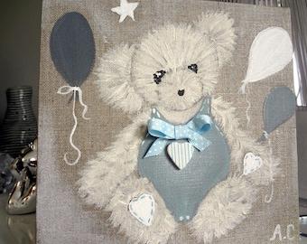 Paintings bears sweetness for little boys room