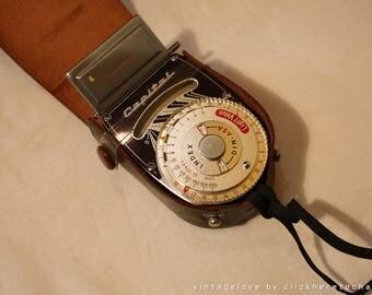 Capital Selenium Exposure Meter vintage with case 1950s