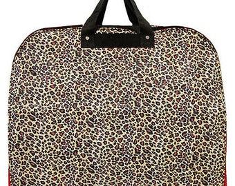 Leopard Print Garment Bag
