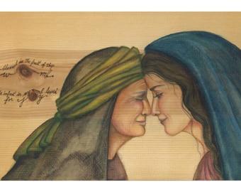 Mary and Elizabeth- the visitation