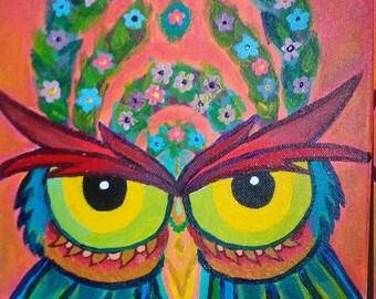 Bassnectar Owl Painting