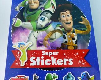 block of 500 stickers Disney Pixar Toy Story Cars Ratatouille Nemo Pixar heroes and 30 coloring