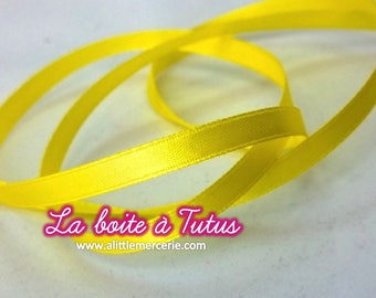 5 m meter width 6mm ★ 500 cm x 0.6 cm wide yellow satin ribbon
