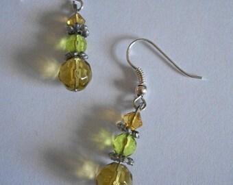 Earrings ' handmade glass beads earrings