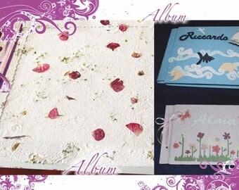 Customizable photo albums handmade paper craft