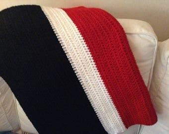 """Basic Double 36"""" x 48"""" Custom Crochet Blanket"""