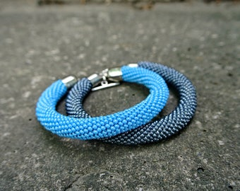 blue-gray set of 2 bracelets