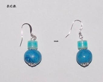 POLYMER CLAY EARRINGS AND SYNTHETIC PEARLS